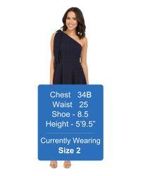 Nanette Lepore - Blue Soiree One-shoulder Dress - Lyst