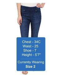 Liverpool Jeans Company - Sienna Pull-on Silky Soft Denim Capris In Havasu Deep Blue - Lyst