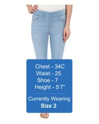 Liverpool Jeans Company - Sienna Pull-on Silky Soft Denim Capris In Delton Light Blue - Lyst