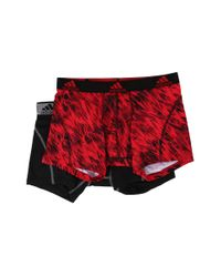 Adidas Originals - Red Sport Performance Climalite Graphic 2-pack Trunk for Men - Lyst
