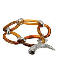 Lauren by Ralph Lauren - Brown Canyon Chic Organic Link Pave Horn Bracelet - Lyst