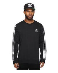 Adidas Originals | Black Clima 2.0 Long Sleeve Crew for Men | Lyst