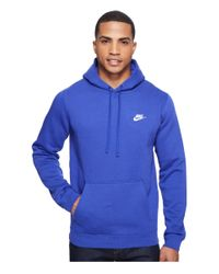 Nike | Blue Club Fleece Pullover Hoodie for Men | Lyst