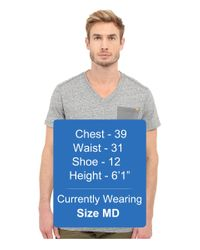 G-Star RAW - Gray Riban Short Sleeve V-neck Pocket Tee In Premium Compact Jersey for Men - Lyst