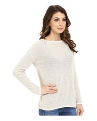 Mavi Jeans - White Long Sleeve Sweater - Lyst