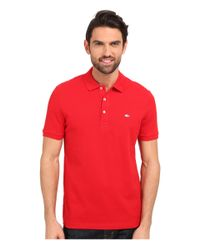 Lacoste | Red Stretch Petit Piqué Slim Fit Polo for Men | Lyst