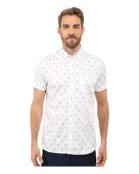 Ted Baker | White Mydance Short Sleeve Floral Spot Print Shirt for Men | Lyst