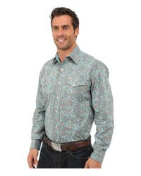 Stetson | Blue Modern Paisley Long Sleeve Snap Front Shirt for Men | Lyst