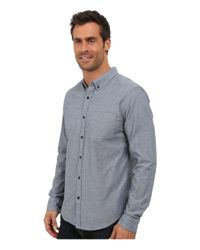 United By Blue - Gray Bryce Button Down for Men - Lyst