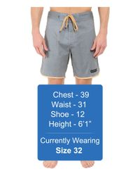 United By Blue - Gray Kingfisher Scallop Boardshorts for Men - Lyst