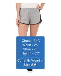 Project Social T - Gray Farrah Dolphin Shorts - Lyst