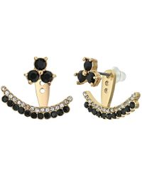kate spade new york - Black Dainty Sparklers Double Row Ear Jackets - Lyst