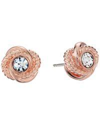 kate spade new york | Metallic Infinity & Beyond Knot Studs Earrings | Lyst