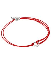 ALEX AND ANI | Kindred Cord (red) Heart Red Sterling Rafaelian Silver Bracelet | Lyst