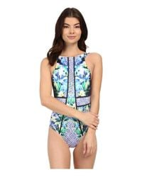 Jets by Jessika Allen - Multicolor Sublime High Neck One-piece Swimsuit - Lyst