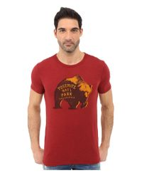 6e18a7f0b Lyst - Lucky Brand Yosemite Bear Graphic Tee in Red for Men