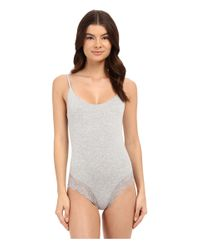 Only Hearts | Gray So Fine With Lace Low Back Bodysuit | Lyst
