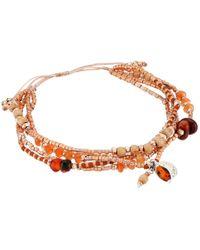 Chan Luu | Multicolor 6' Adjustable Carnelian Multi Strand Pull Tie Single Bracelet | Lyst