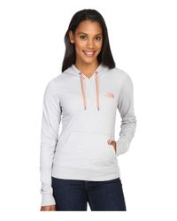 The North Face - Gray Lite Weight Pullover Hoodie - Lyst