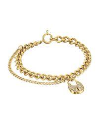 Michael Kors | Metallic Curb Padlock Bracelet | Lyst