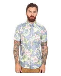 7 Diamonds | Blue Land Of Flowers Short Sleeve Shirt for Men | Lyst