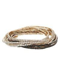Guess | Metallic 10-piece Stone Stretch Bracelet Set | Lyst