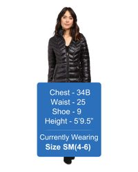 Jessica Simpson - Black Long Packable Jacket With Hood - Lyst