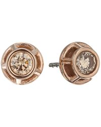 Fossil | Metallic Iconic Glitz Studs Earrings | Lyst