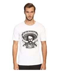 The Kooples - White Graphic Crew Neck T-shirt for Men - Lyst