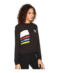 Adidas Originals - Black Chiffon Crew - Lyst