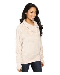 Dylan By True Grit - White Plush Pebble Pile Zip Mock Top - Lyst