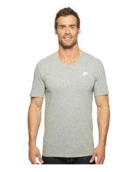 Nike | Gray Sportswear Futura V-neck Tee for Men | Lyst