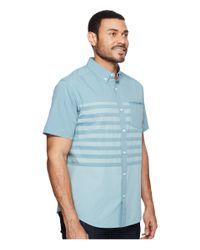 Mountain Hardwear Blue Axton Ac Short Sleeve Shirt for men