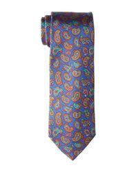Etro - Blue 8cm Multicolor Floating Paisley Necktie for Men - Lyst