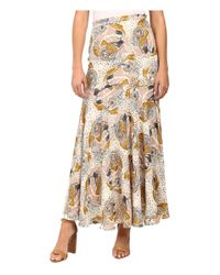 Free People | Natural Chelsea Crepe Maxi Skirt | Lyst