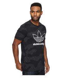Adidas Originals | Black Clima 3.0 Word Camo Tee for Men | Lyst