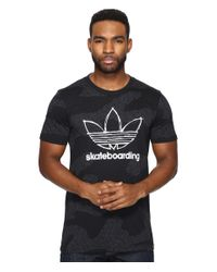 Adidas Originals | Black Clima 3.0 Word Camo Tee for Men | Lyst