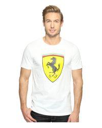 PUMA | White Sf Big Shield Tee for Men | Lyst