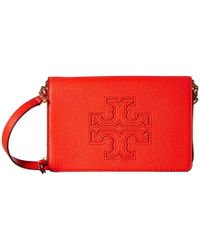 Tory Burch - Red Harper Flat Wallet Crossbody - Lyst