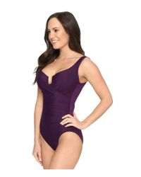 Miraclesuit | Purple Must Haves Escape One-piece | Lyst