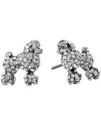 Marc Jacobs | Metallic Charms Paradise Mini Poodle Studs Earrings | Lyst