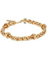 Lauren by Ralph Lauren | Metallic Back To Basics Ii Braided Gold Chain Bracelet | Lyst