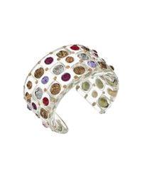 Betsey Johnson | Metallic Multi Lucite Cuff Bracelet | Lyst