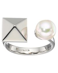 Majorica | White Why Not? Silver Ring | Lyst