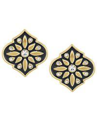 kate spade new york   Black Moroccan Tile Statement Studs Earrings   Lyst