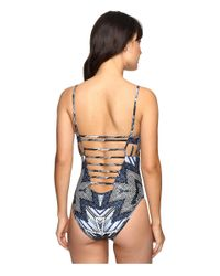 Red Carter Indigo Blues Side Cut Out One-piece