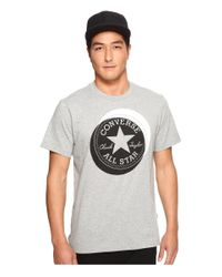 Converse | Gray Large Circle Chuck Patch Short Sleeve Tee for Men | Lyst
