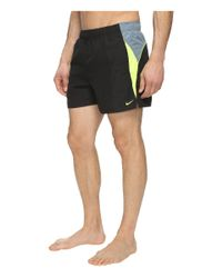 "Nike | Black Swift 4"" Volley Shorts for Men 