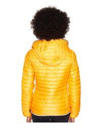 Duvetica - Yellow Eeria Full Zip Hoodie - Lyst