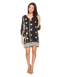 Tolani | Black Gwyneth Embroidered Tunic Dress | Lyst